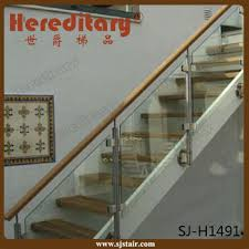 stainless steel glass stair railing wall mounted side mounting