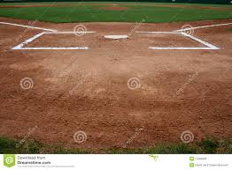 baseball field at home plate stock photo image 15380820