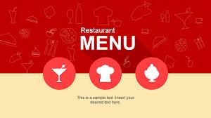 flat restaurant menu powerpoint template slidemodel