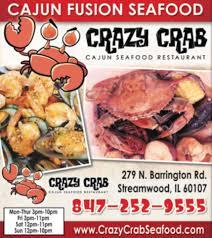 crazy crab home streamwood illinois menu prices