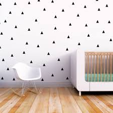 Nursery Wall Decals Wall Decal Black Triangle Baby Nursery Wall Decal Wall