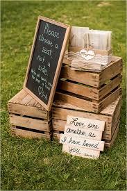 rustic wedding decor ideas wedding sign display tulle