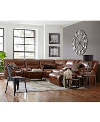 Family Room Furniture Sets Beckett Leather Power Reclining Sectional Sofa Collection Created