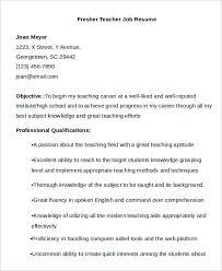 Fresher Teacher Resume Sample 40 Modern Teacher Resumes Free U0026 Premium Templates