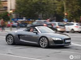 Audi R8 Grey - audi r8 v8 spyder 2013 29 march 2013 autogespot