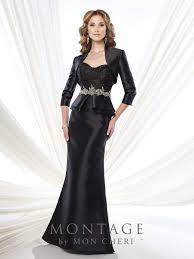 montage 215921 dress mikado lace peplum waist bolero jacket two