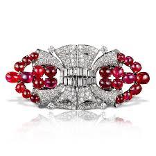 cartier art deco ruby doubleclip anna lin 古董珠宝首饰