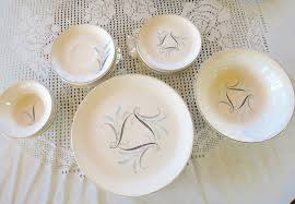 vintage china pattern vintage china set cannonsburg pottery co mid century tableware