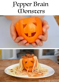 pepper brain monster the healthy halloween food kids adore