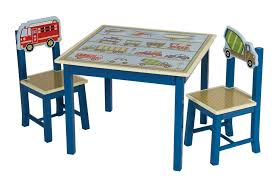 Toddler Table Chair Transportation Themed Moving All Around Kids Table U0026 2 Chairs Set
