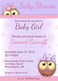 pink owl baby shower invitations owl baby shower invitation baby shower invites baby shower