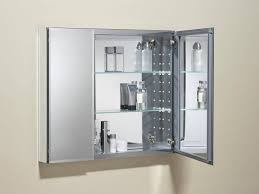 sleek bathroom medicine cabinet with glass shelves also mirror