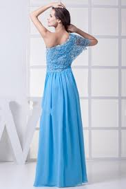 lace one shoulder chiffon 2013 prom dress for girls on sale lace