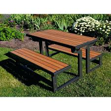Picnic Table With Benches Plans Folding Picnic Table Into Bench Plans Fold Up Picnic Table Bench