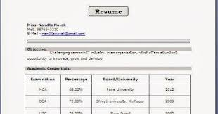 Resume Format Examples For Freshers by Updated Electronicsstudentresumeformat Updated Resume Format
