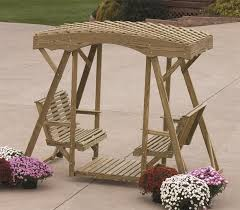 Wooden Garden Swing Bench Plans by Amish Pine Rollback Double Lawn Glider By Dutchcrafters Amish