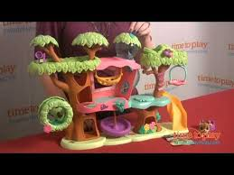 littlest pet shop walkables magic motion tree house playset from
