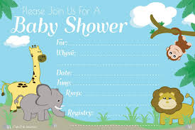 amazon com jungle safari baby shower invitations fill in style