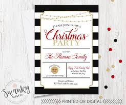 christmas party invitations holiday party invitations black