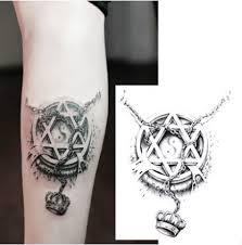 2pcs lot tatuagem temporary tattoo sticker 3d hexagon magic