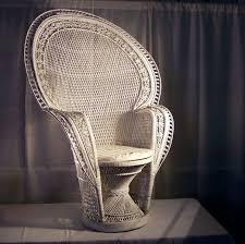 white wicker fan back chair regency party rental u0026 productions