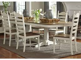 pedestal table with chairs liberty furniture springfield dining 7 piece double pedestal table