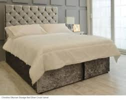 Ottoman Storage Beds Gas Lift Ottoman Storage Bed Upholstered In Crushed