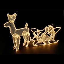 notcutts reindeer and sleigh rope light notcutts notcutts