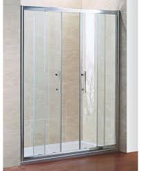 Shower Tray And Door by Sliding Door Shower Enclosure Chrome Finish Sliding Door Shower