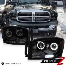 2006 2008 dodge ram 1500 2500 3500 sinister black led halo