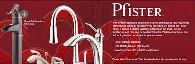 Pfister Faucets Warranty Faucets And Sinks