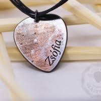 Engraved Guitar Pick Necklace Name Necklace Personalized Guitar Pick Necklace Classy Pick