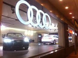 audi dealership cars file hk admiralty night 夏慤道 harcourt road shop audi hong kong