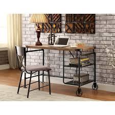 wood and metal writing desk wood metal casual industrial desk alexander rc willey