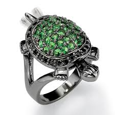 black crystal rings images Shop black rhodium plated green crystal and black cubic zirconia jpg