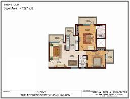 floor plans by address spaze privvy the address 93 gurgaon