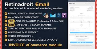 responsive email template u0026 invoice template mailchimp email