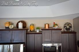 kitchen top cabinets decor above cabinet decor dust bunnies and toys