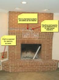 Mounting Tv Over Brick Fireplace by Tips For Hanging The Tv Over The Fireplace Via Dwellings By Devore