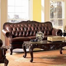 Coaster Leather Sofa Rolled Arm Leather Sofa Coaster Furniture Furniturepick