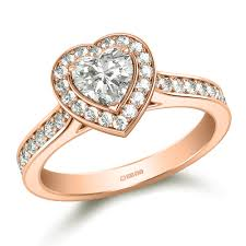gold engagement rings uk heart shaped diamond halo engagement ring in gold