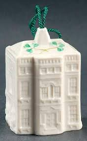 belleek pottery ireland annual christmas bell ornament at