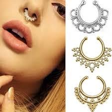 sale nose rings images Diamond hoop nose rings elegant best top sale fake nose ring jpg