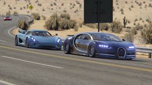 bugatti chiron ss vs supercars at black cat country virtua