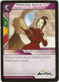 card princess azula firebender trade cards