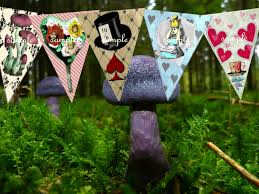 alice in wonderland decorations party bunting alice in