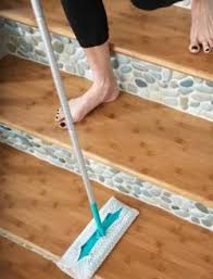 sea green and white pebble tile tile stairs white pebbles and