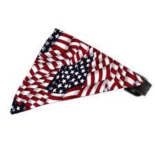 Black American Flag Bandana Dog American Flag