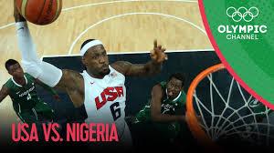 Teampoint Bad Usa V Nigeria Usa Break Olympic Points Record Men U0027s Basketball