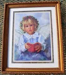 Home Interiors And Gifts Framed Art Angel Framed And Matted Print By Eloise B Wright For Home